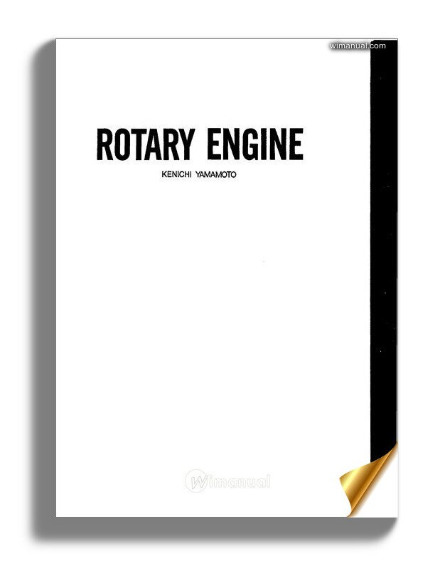 Mazda Book Rotary Engine 1981