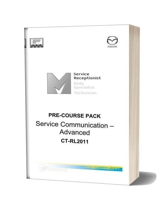Mazda Pre Course Pack Service Communication Advanced Ct Rl2011