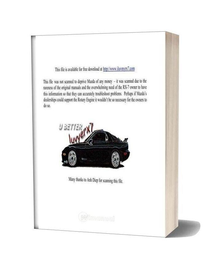 Mazda Rx 7 Braking Systems Workshop Repair Manual