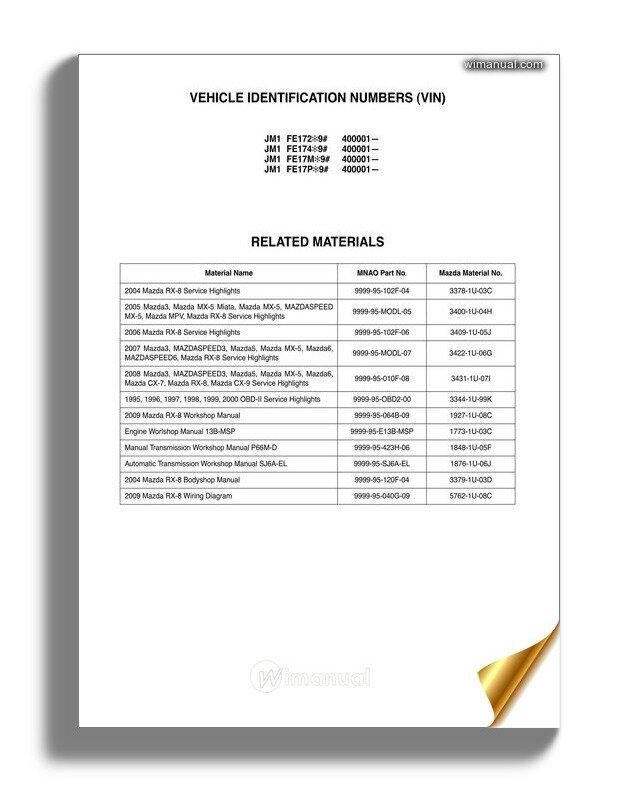 2006 mazda rx8 wiring diagram mazda rx 8 service highlight 2009  mazda rx 8 service highlight 2009