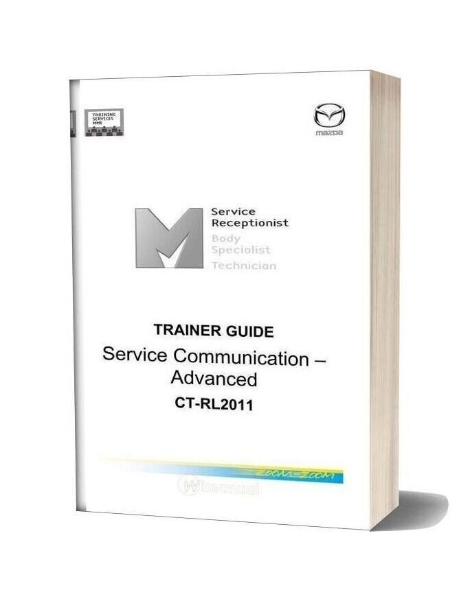 Mazda Trainer Guide Service Communication Advanced Ct Rl2011