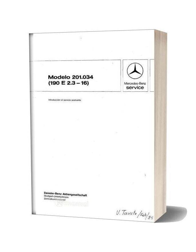 Mercedes Benz 190e Repair Manual