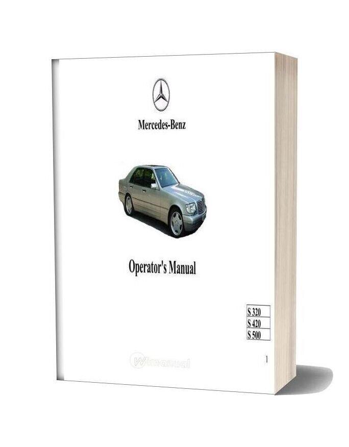 Mercedes Benz S 320 S 420 S 500 Operators Manual