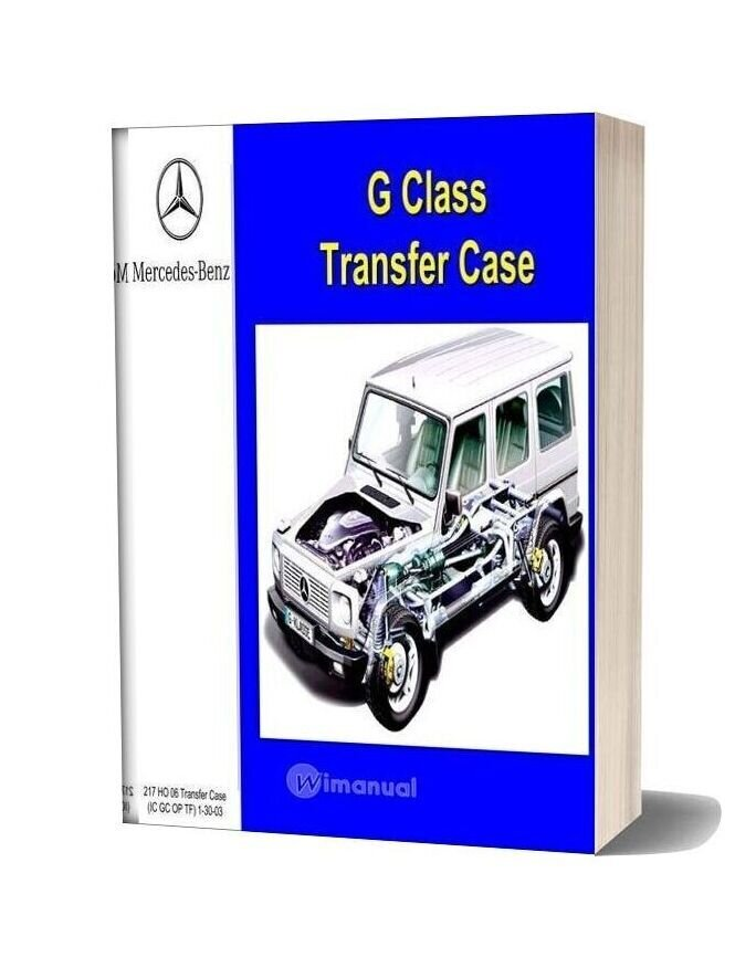 Mercedes Benz Technical Training 217 Ho 05 Transfer Case Ic Gc Op Tf