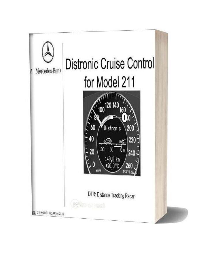 Mercedes Benz Technical Training 219 Ho Dtr Gc Rp 08 20 02