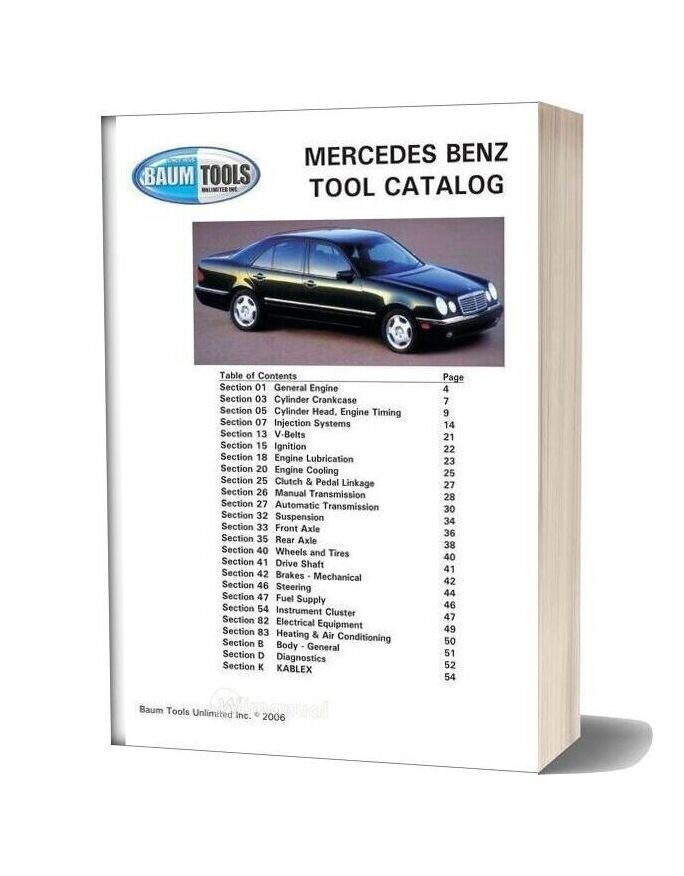 Mercedes Benz Tools Catalog