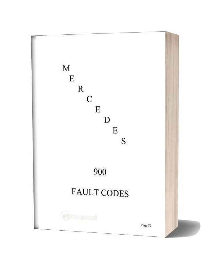 Mercedes Br900 Fault Codes
