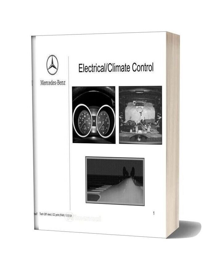 Mercedes Technical Training 287 Ho 01 Electrical Climate Control Fah 10 05 04