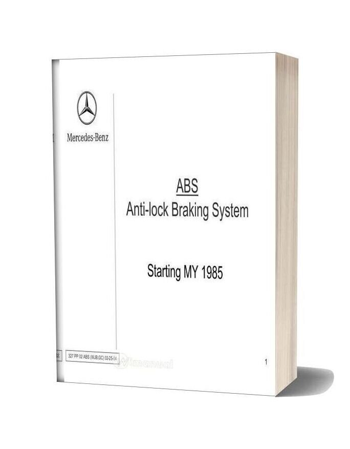 Mercedes Technical Training 327 Ho 02 Abs Wjb Gc 02 25 04