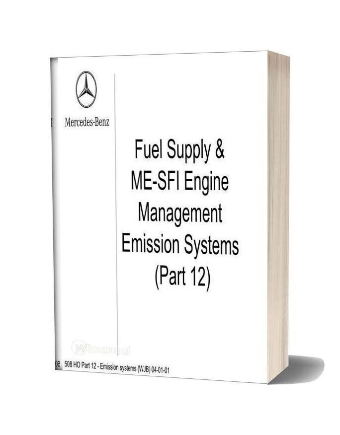 Mercedes Technical Training Ho Part 12 Emission Systems Wjb