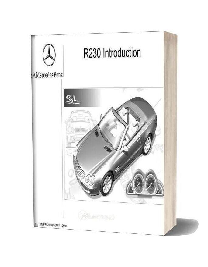 Mercedes Training 218 Ho R230 Intro Wff