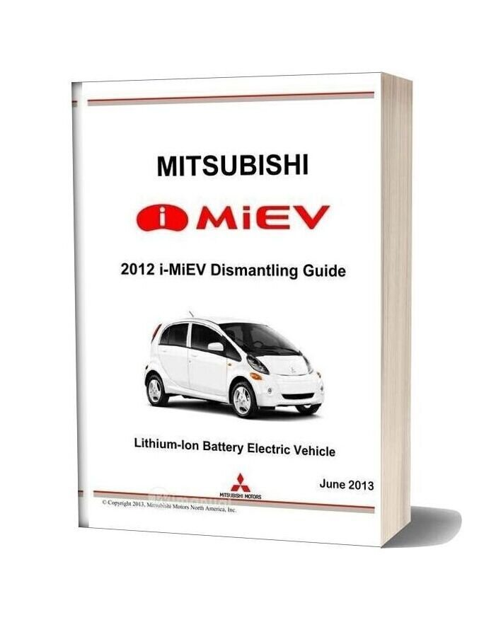 Mitsubishi 2012 I Miev Dismantling Guide