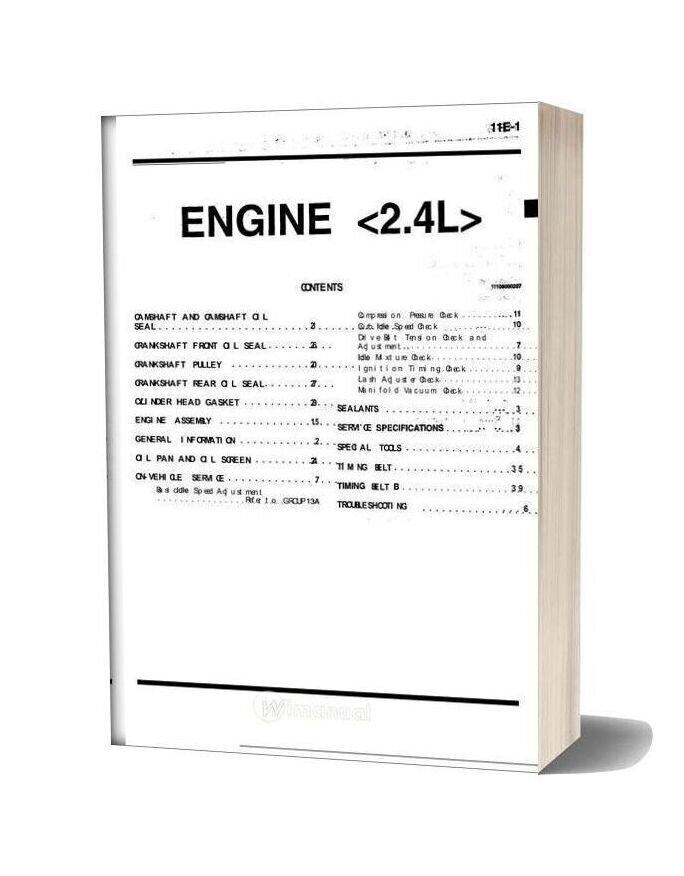 Mitsubishi 4g64 Engine 2 4l Service Manual