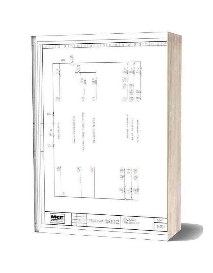 Mitsubishi Caterpillar Forklift Euro Circuit Diagram Rb14 16 20 25 Ts841002