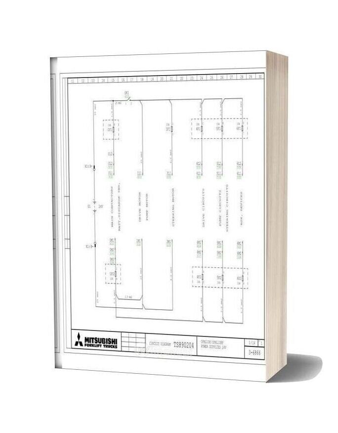 Mitsubishi Forklift Trucks Circuit Diagram Ts890204