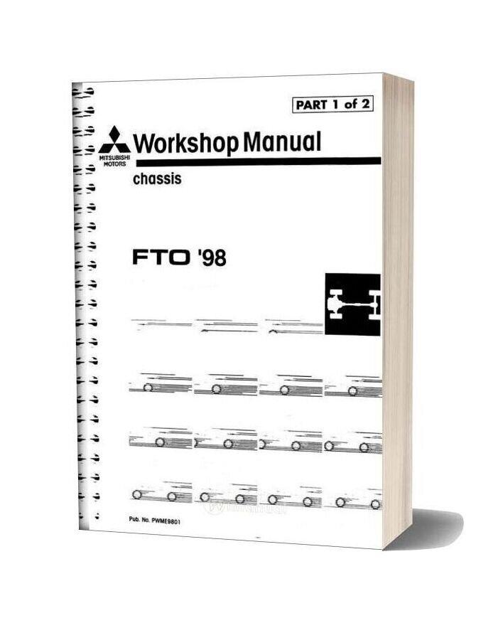 Mitsubishi Fto 1998 Volume 1 Workshop Manual