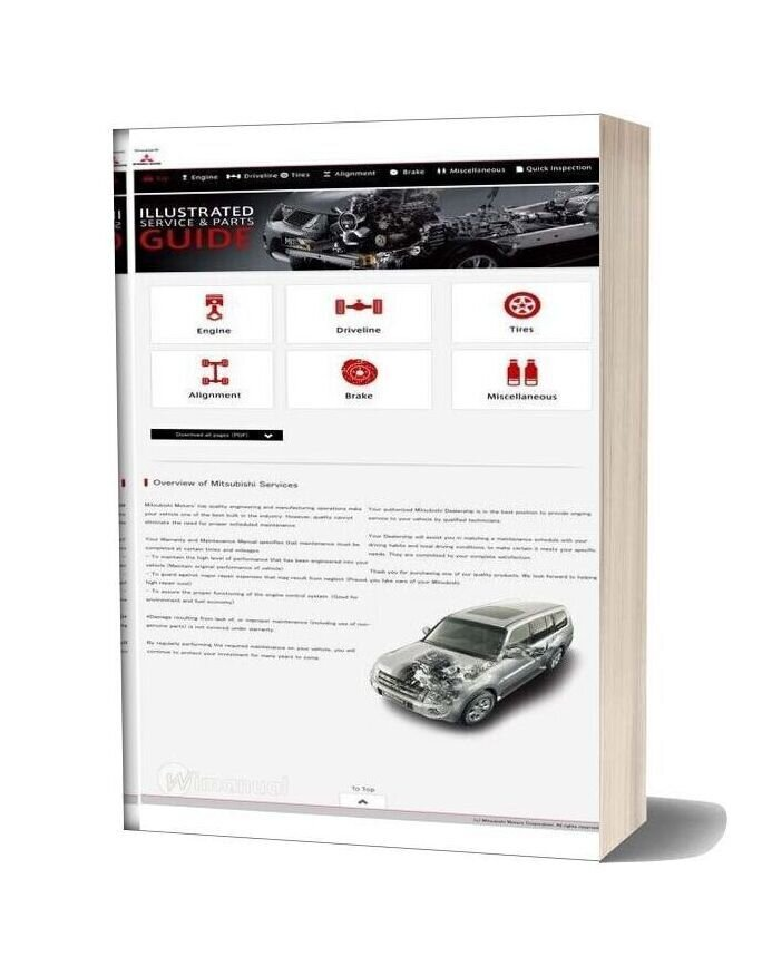Mitsubishi Illustrated Service & Parts Guide