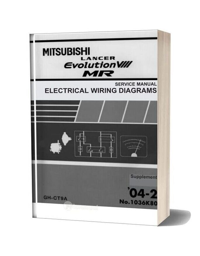 Mitsubishi Lancer Evolution Viii Mr Service Manual Electrical Wiring Diagram