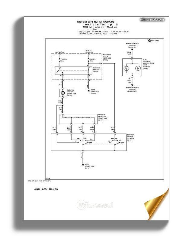 1994 Mitsubishi Wiring Diagram
