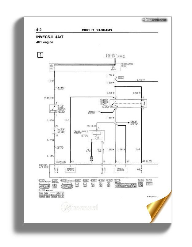mitsubishi space star 2003 electrical wiring  wimanual