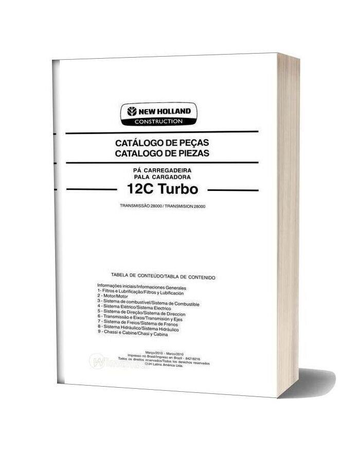 New Holland 12c Turbo Loader Part Catalog