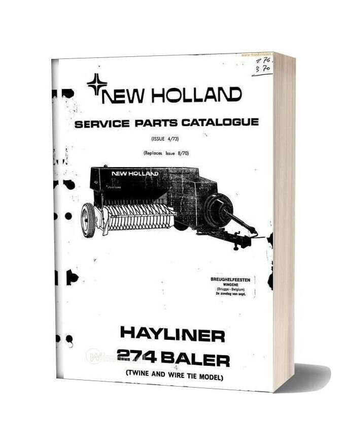 New Holland 274 Small Baler Parts Sec Wat