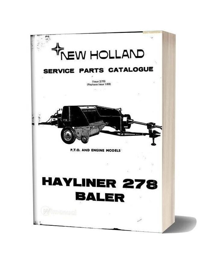 New Holland 278 Small Baler Parts Sec Wat