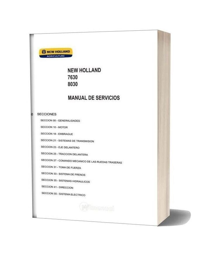 New Holland 7630 8030 Service Manual Es