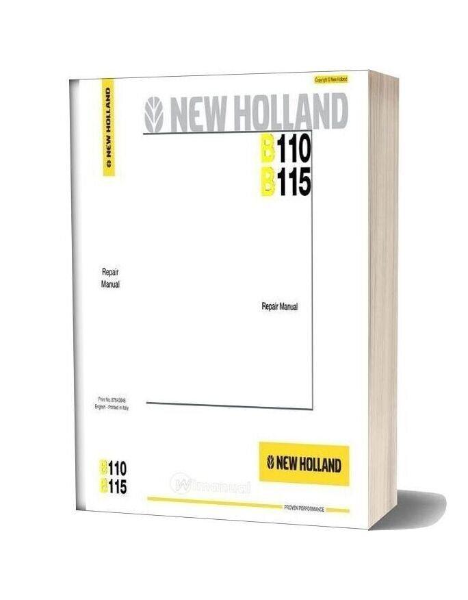 New Holland B110 B115 En Service Manual-12n17446