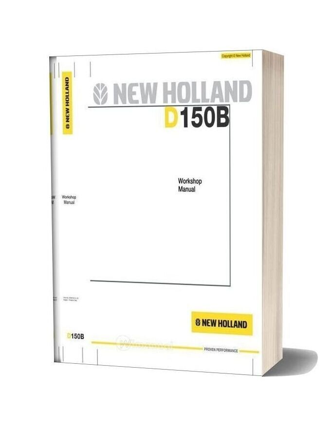 New Holland Crawler Dozer D150b En Service Manual