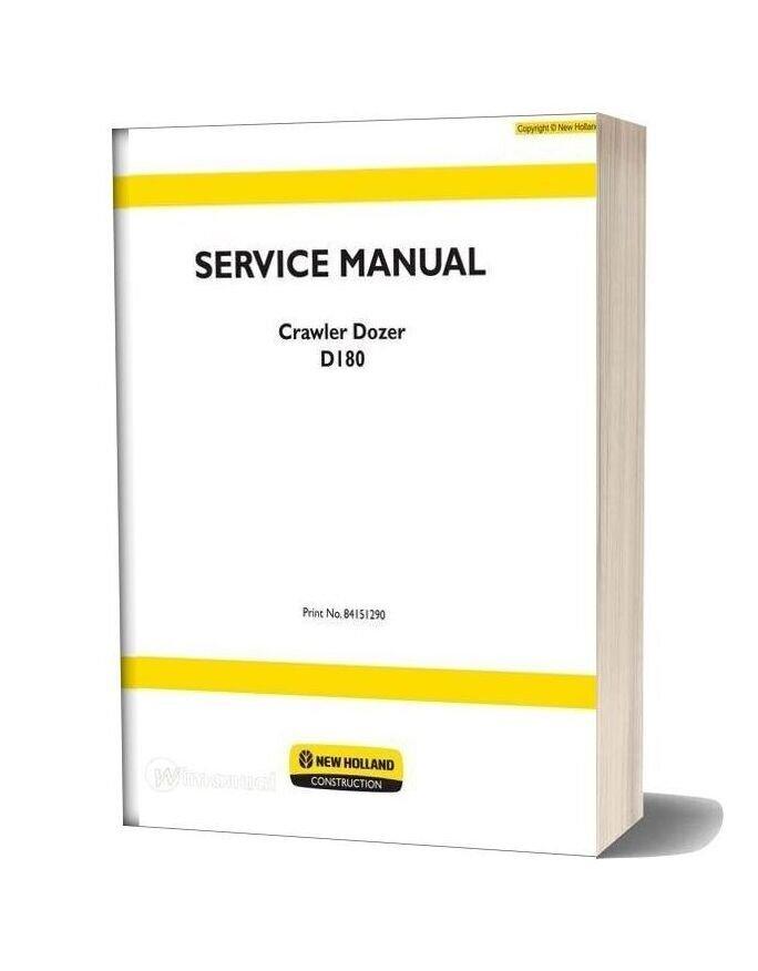 New Holland Crawler Dozer D180 Tier3 En Service Manual