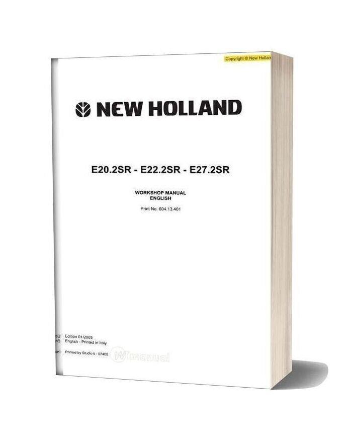New Holland Excavator E20 2sr E22 2sr E27 2sr En Service Manual