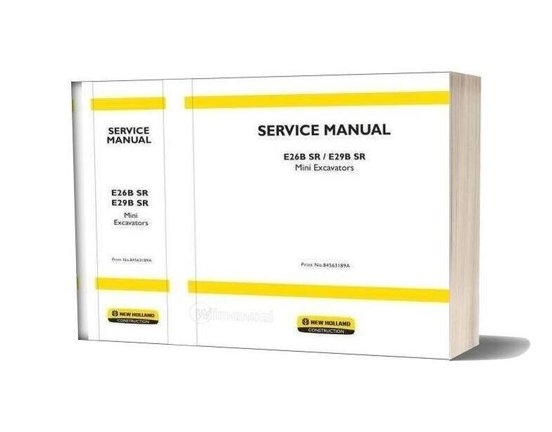 New Holland Excavator E26bsr E29bsr En Service Manual
