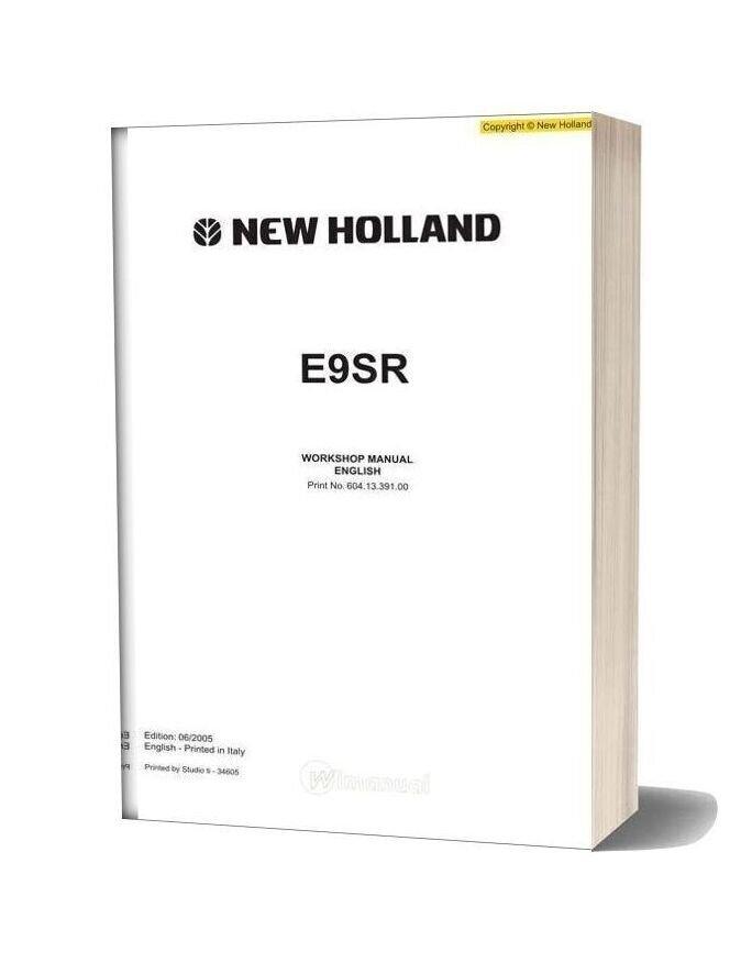 New Holland Excavator E9sr En Service Manual