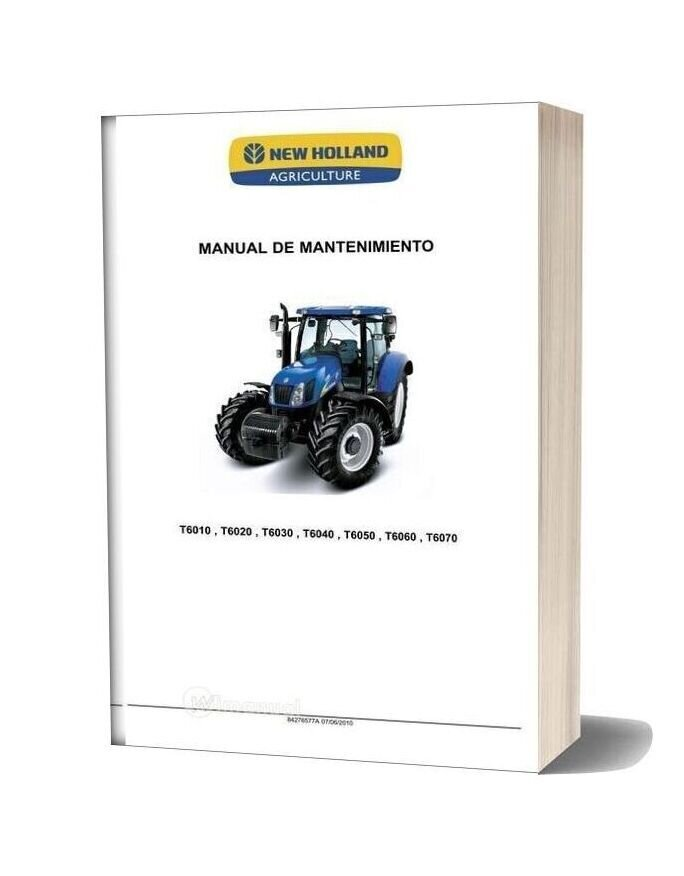 New Holland Mr T6000 Maintenance Manual Es