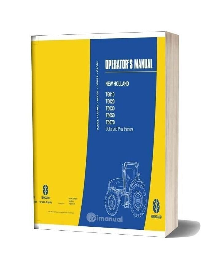 New Holland Serie T6000 Operator Manual