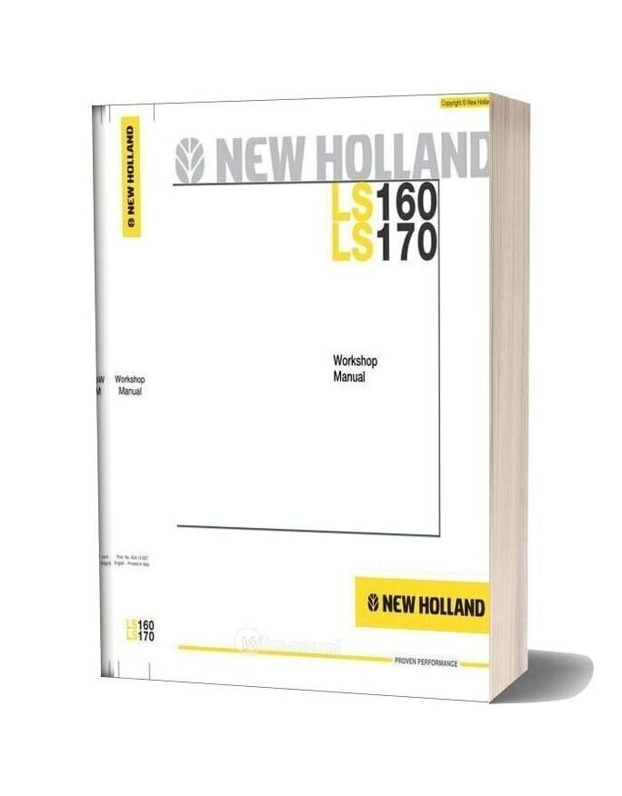 New Holland Skid Steer Loader Ls160 Ls170 En Service Manual