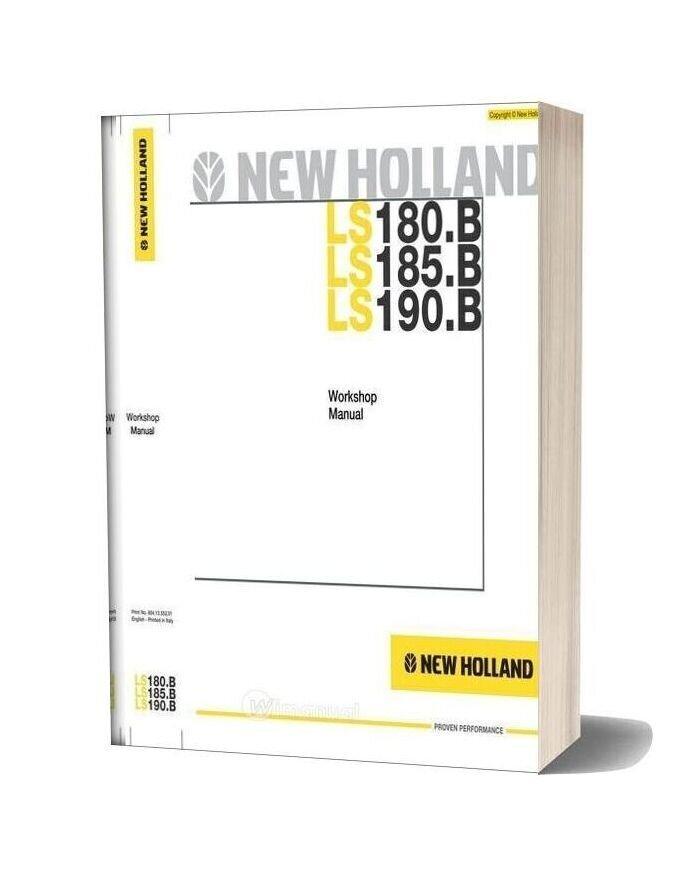 New Holland Skid Steer Loader Ls180 B En Service Manual