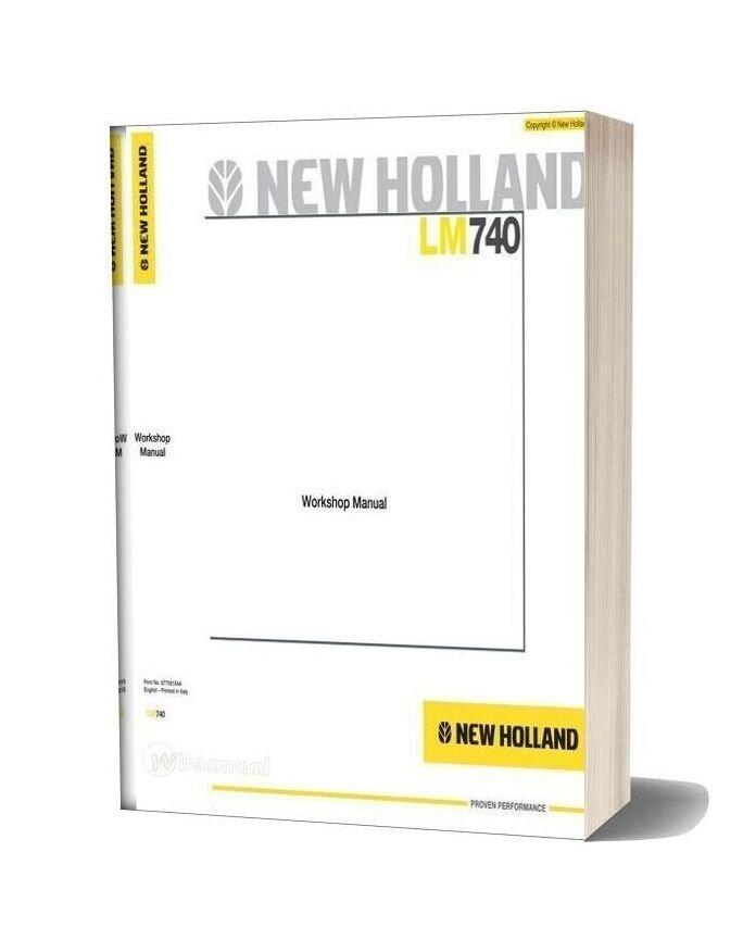 New Holland Telehandlers Lm740 En Service Manual