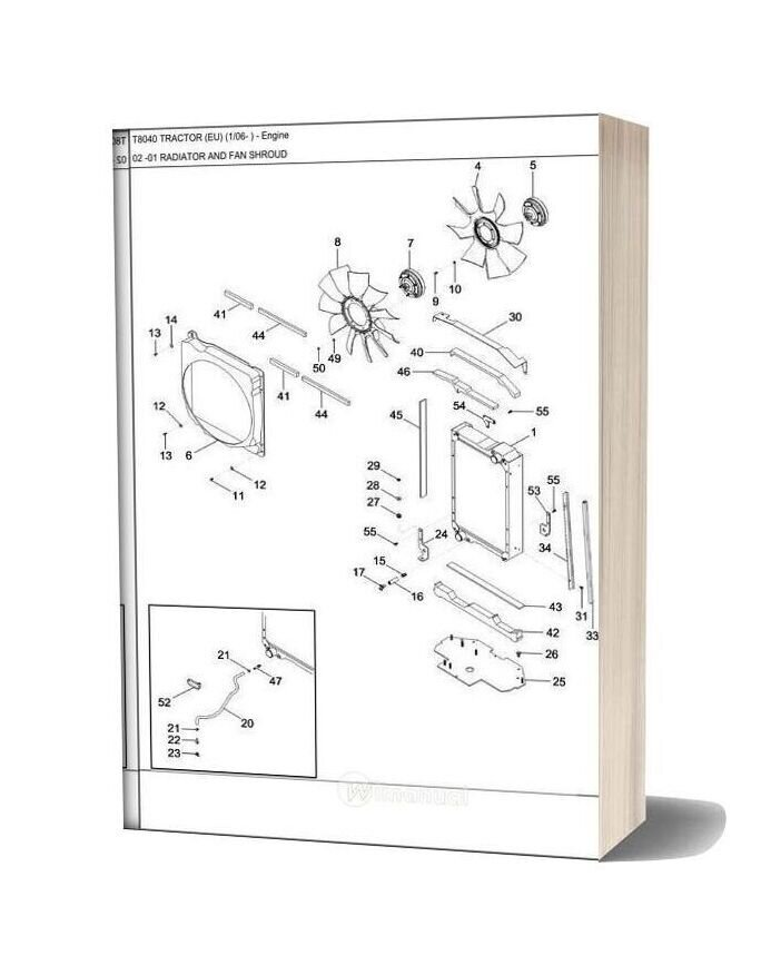 New Holland Tractor T8040 Parts Catalog