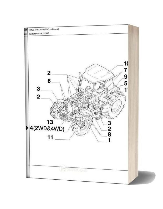 New Holland Tractor Tm190 Parts Catalog
