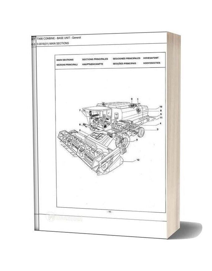 New Holland Tx66 Combine Parts Catalog