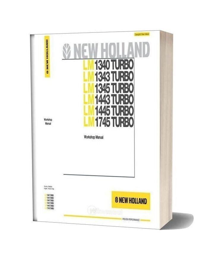 Newholland Telehandlers Lm1340 Workshop Manual