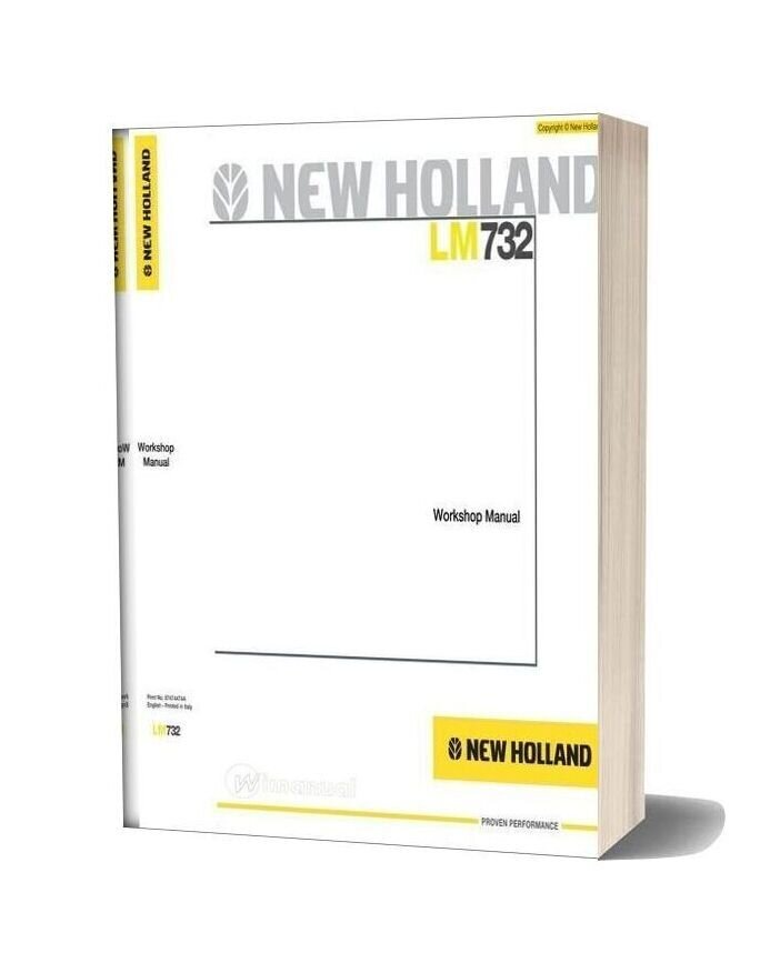 Newholland Telehandlers Lm732 Workshop Manual
