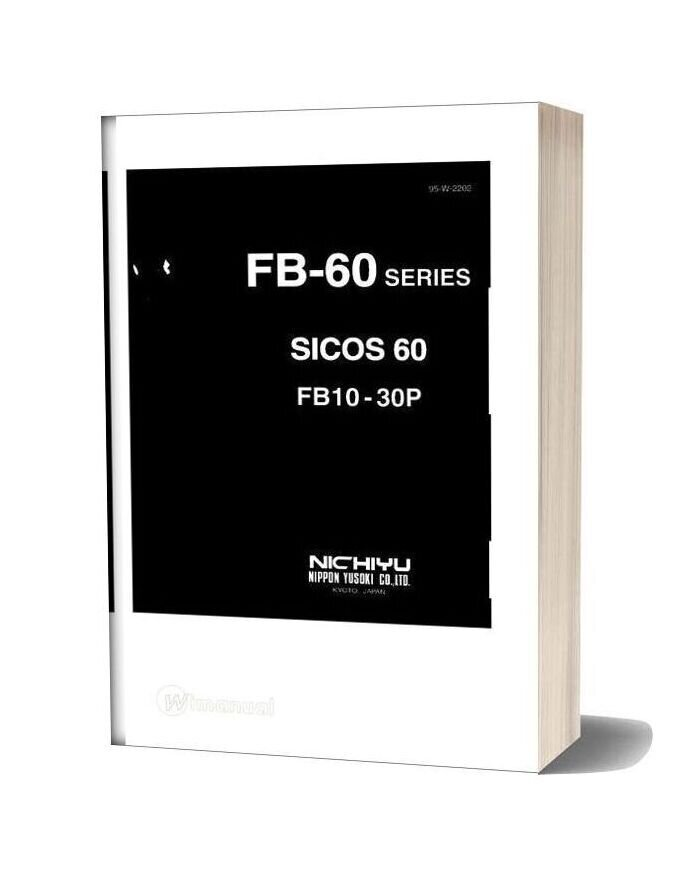 Nichiyu Forklift Fb10 30p Sicos 60 Troubleshooting Manual