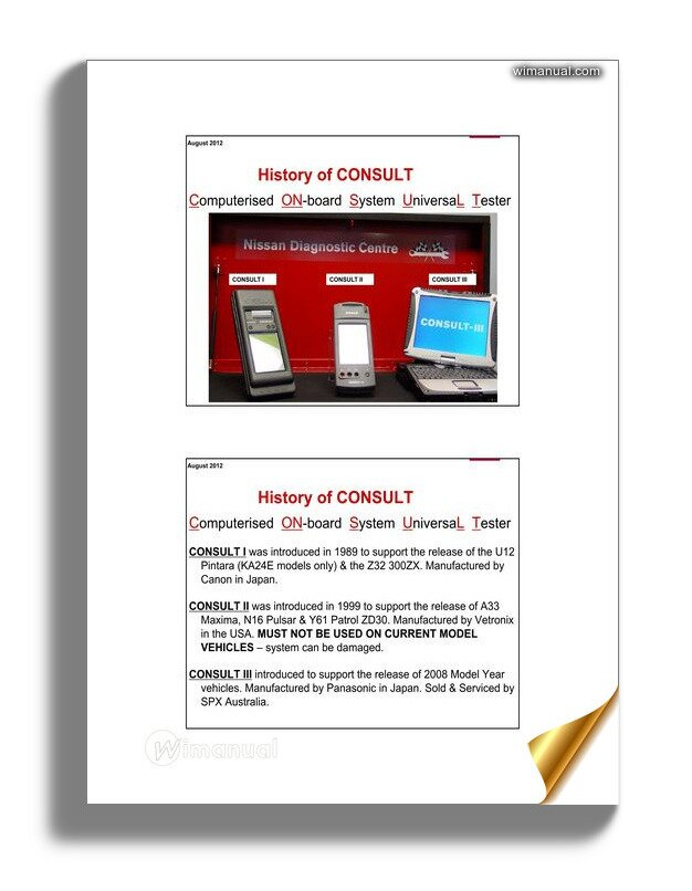 Nissan Diagnostic Consult Iii Plus Info