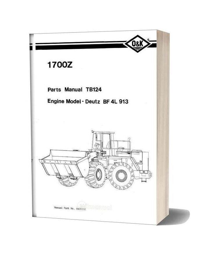 O&K Trojan 1700z Tb124 Parts Book