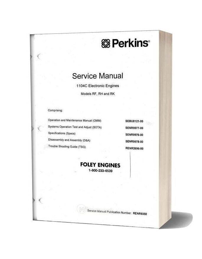 Perkins 1104c Service Manual Complete Reduced