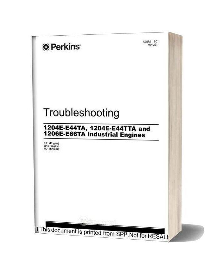 Perkins 1204e E44ta&1204e E44tta 71206e E66ta Industrial Engine Troubleshooting