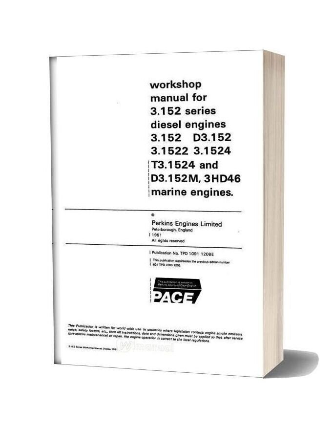 Perkins 3 152 Series Workshop Manual